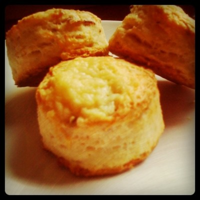 Bacon-Cracked Pepper Biscuits